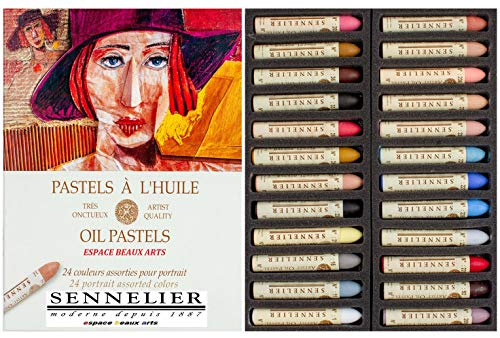 Sennelier Pastels Oil 24 Colours Portrait - qualità Artistica (importazione Francia) Made in France