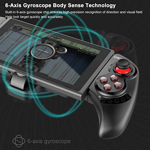 iPega PG-SW029 Wireless Bluetooth Game Controller, Wiederaufladbarer Remote Gamepad Joystick mit 6 Achsen Gyroskop Kompatibel für N · S PS3 Android Tablets Windows PC