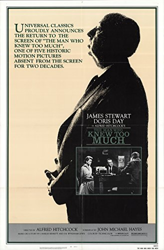 The Man Who Knew Too Much 1983 Authentic 27' x 41' Original Movie Poster Very Fine, Fine Doris Day Thriller Alfred Hitchcock U.S. One Sheet