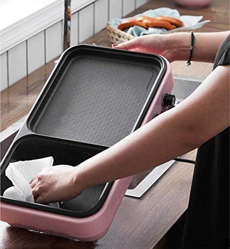 Yqs Student Slaapzaal, pan, multifunctionele barbecuemachine, voor binnen en buiten, multifunctioneel wit