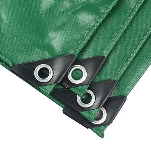 Lona Coche Barco Techo Cubierta de lluvia Impermeable Impermeable Camping Remolque Tienda Carpa Cubiertas for sábanas FENGMING (Color : Green, Size : 2mx2m)