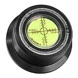 Viborg Audio®, , Stabilizzatore LP per giradischi, piatto, stroboscopio e livella vibrazioni, 50 Hz 528 b Clamp 3in 1