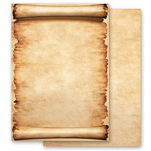 100 fogli di carta da lettera decorati Antico & Storia PERGAMENA DIN A6 - Paper-Media