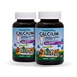 NaturesPlus Animal Parade Source of Life Children's Calcium Supplement (2 Pack) - 90 Animal Shaped Tablets -...
