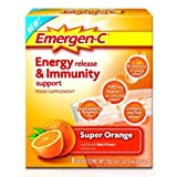 Emergen-C Super Orange Energy Release and Immunity Support Food Supplement - 2 x Pack of 8 Sachets (16 total) from Pfizer