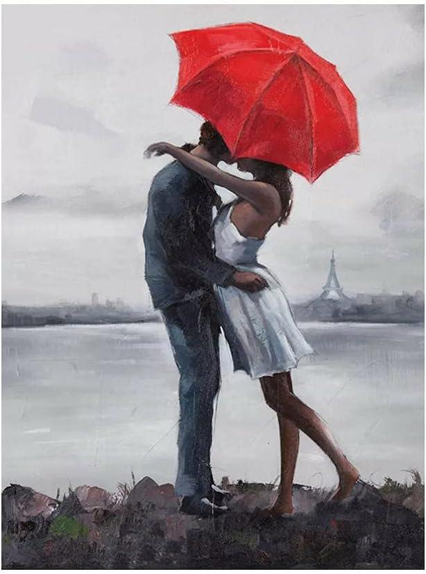5D Gorgeous Diamond Painting Lover Eiffel Portrait Trust Tower Diamo Rhinestone