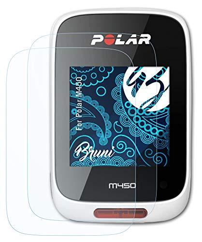 Bruni Película Protectora para Polar M450 Protector Película, Claro Lámina Protectora (2X)