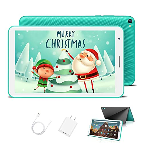 Tablet Bambini 8.0 Pollici con Wifi Offerte Android 10.0 Certificato Google GMS 3GB RAM 32GB/128GB Tablet PC in Offerta 1.6GHz Quad Core 5000mAh Tablet Android con Giochi Educativi Netflix(Verde)