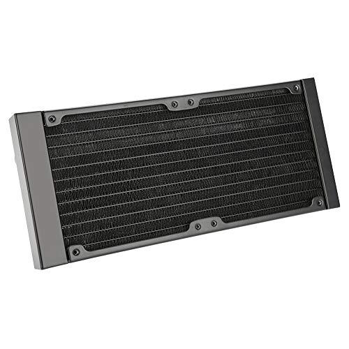 Richer-R 120mm/240mm/360mm Aluminium Radiator, 12 Rohre PC Wasserkühlung Aluminiumheizkörper,Wärmetauscher Schnelle Kühlkörper Radiator für PC Wasserkühlung Industriegeräte usw.(240mm)