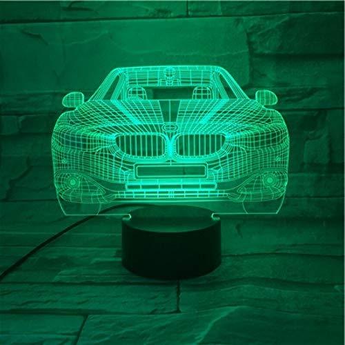 Sorpresa racing luz 3D luz nocturna bombilla LED colección de lámpara de mesa navideña regalo antes de Navidad