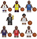 Figuras de Acción Lakers NO. 24 Kobe Bryant y Gianna NBA 8 Piezas Muñecos Modelo Estatuas de Juguete Coleccionable Decoración del Hogar y Oficina Regalo para Fanático del Baloncesto 8PCS-4.5CM