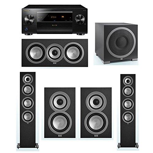 For Sale! ELAC Uni-Fi 5.1 System with 2 ELAC UF5 Floorstanding Speakers, 1 UC5 Center Speaker, 2 ELAC UB5 Speaker, 1 ELAC Debut S12EQ Powered Subwoofer, 1 Pioneer SC-LX701 A/V Receiver