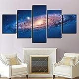 Cuadro de 5 piezas, lienzo de pared, diseño de galaxia nebulosa...