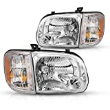 Torchbeam Replacement Headlight Assembly for 05-06 Tundra / 05-07 Sequoia Chrome Housing Clear Lens Driver & Passenger Side