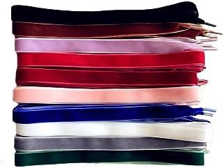 TXIN 10 Pairs Velvet Shoe Laces Flat Shoelaces for Women Girls, 10 Colors 120 cm Long Velvet Shoelace