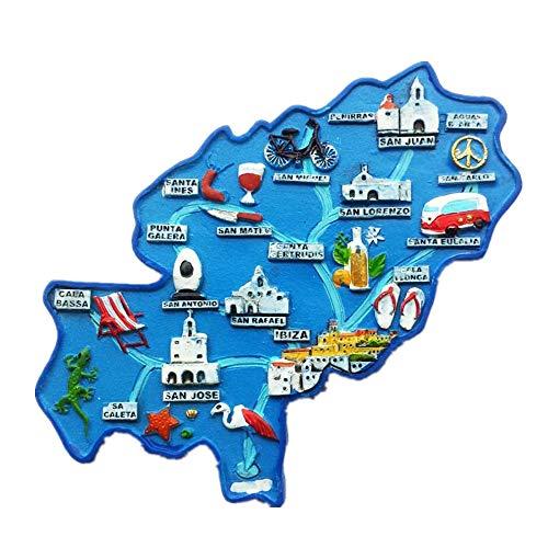 3D-Kühlschrankmagnet, Karte von Spanien, Souvenir, Geschenk, Heim- & Küchendekoration, Aufkleber, Karte von Spanien, Kühlschrankmagnet