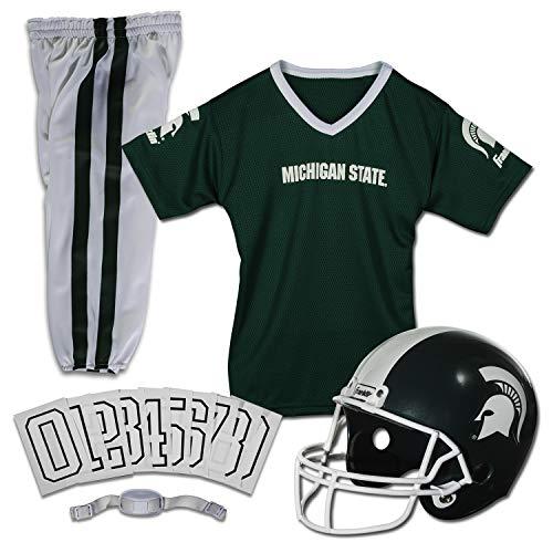 Franklin Sports Michigan State Spartans Kids College Football Uniform Set - Youth NCAA Uniform Set - Includes Jersey, Helmet, Pants - Youth Medium