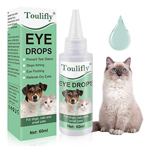 Toulifly Hund Augentropfen, Sanfte Augenpflege für Hunde, Pflegeprodukt für Augen, Besonders Milde & Schonende Reinigung mit Augentrost, Augenreiniger für Hunde & Katzen