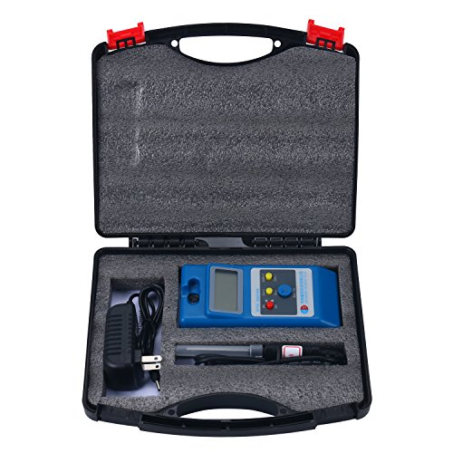 Homend LCD Gaussmeter Tesla Meter WT10A Surface Magnetic Field Tester with Ns Function + Metal Probe