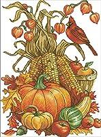 大人のクロスステッチキット果物と野菜40x50cm14CT番号別刺繍キットクラフトキットパンチ針刺繍DIY初心者のための手作りスターターキット