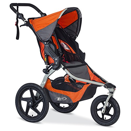 BOB Revolution Flex 2.0 Jogging Stroller - Up to 75 Pounds - UPF 50+ Canopy - Adjustable Handlebar, Canyon