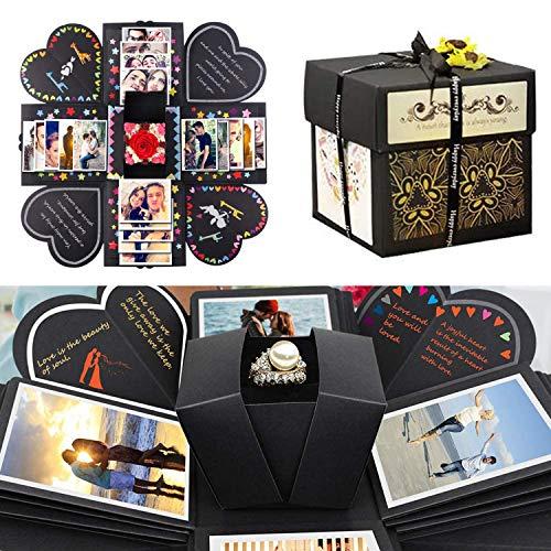 Caja sorpresa, caja de explosin creativa, lbum de fotos plegable, regalo de cumpleaos, aniversario, San Valentn, boda, da de la madre, regalo de bricolaje