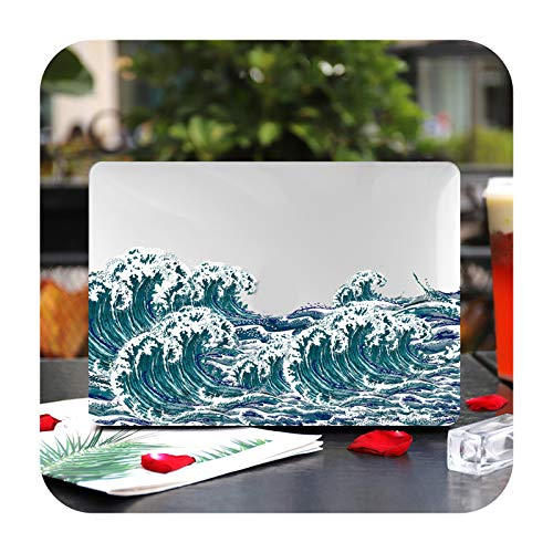 Marble Flower Pattern Laptop Case Keyboard Cover for New MacBook Pro 13 2020 A2338 Air 13.3 15 inch Retina Touch Bar A2251 A1932-X122-Air 11 A1370 A1465