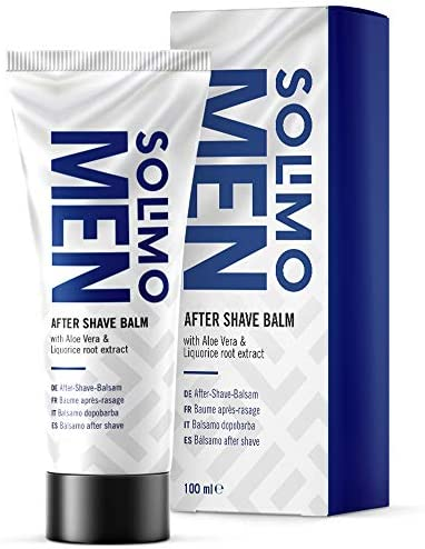 Amazon Brand - Solimo - Men After Shave Balsam - Sensitive, 4 x 100ml