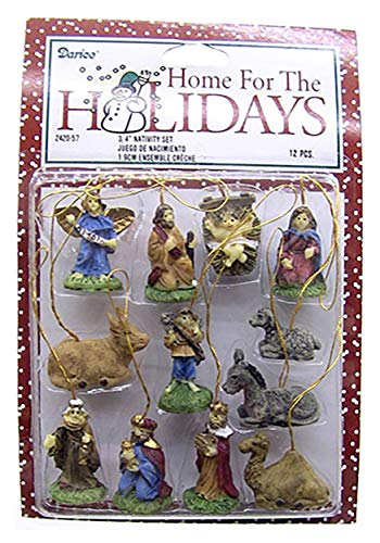Darice Miniature Nativity Ornament Set, One Size, Multicolor