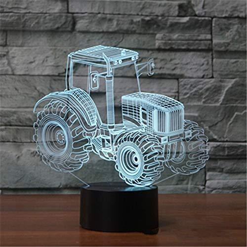 (Nur 1) Neue Traktor 3d Lampe 7 Farbe LED Nachtlampen für Kinder Touch Led USB Tisch Lampe Lampe Sara Sleeping Nightlight Raumlampe