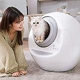 KILLM Automatische Katzenklo, Große Ultra-Quiet intelligente automatische Closed WC Self-Cleaning Pet Litter Tray Induktion Reinigung Deodorant Katzenklo,