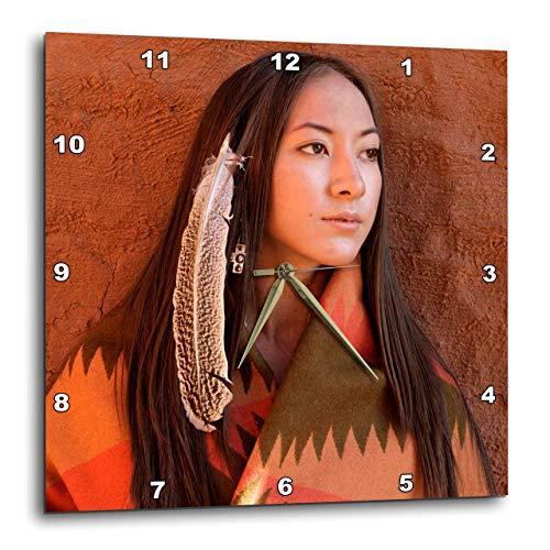 3dRose DPP 92706_ 2Nuevo México, Cherokee (Modelos de Mujer, Nativo american-us32jmr0634-julien McRoberts-Wall Reloj, 13por 13Pulgadas