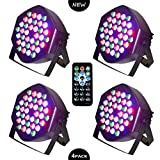 LED PAR Licht 36W 36LEDs RGB 7 Beleuchtung 4 STÜCK Modi Disco Lichteffekte dj party Licht Bühnenbeleuchtung led scheinwerfer Fernbedienung