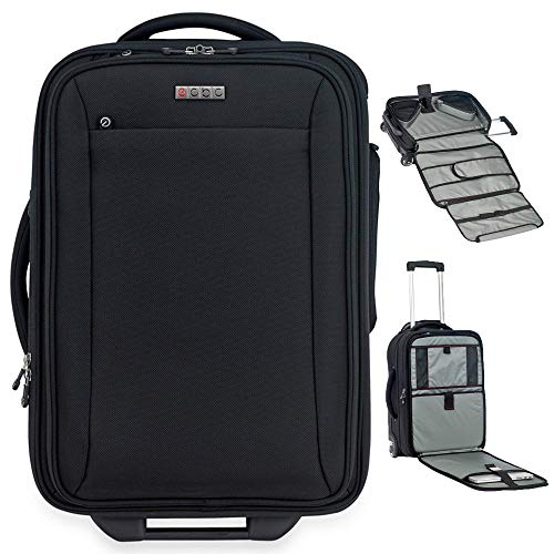 Sparrow II Wheeled Garment Bag (Black) - TSA FastPass laptop storage system to breeze through security checkpoints
