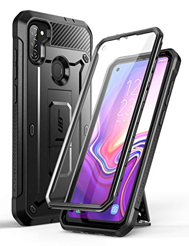 SupCase Unicorn Beetle Pro Series Case Designed for Samsung Galaxy A11 (2020 Release), Full-Body Rugged Holster & Kickstand Case with Built-in Screen Protector (Black)