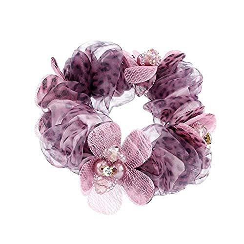 QWEASD Headdress Haar Ring, Koreaanse Haaraccessoires Haartouw, Mode Doek Hoofd Bloem Hoofd Sieraden, Haarband Top, Volwassen Trinkets (Kleur : C)