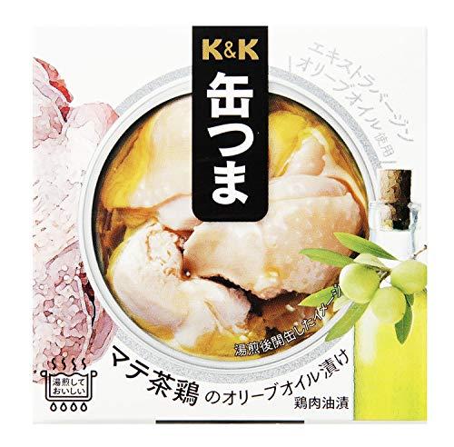 K&K 缶つまR </br></noscript>マテ茶鶏オリーブオイル漬 150g