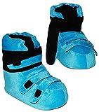 alles-meine.de GmbH Hausschuhe - als Blaue Skischuhe - SUPERWARM - Gr. 39 - 40 - 41 - 42 - gefütterte Plüschhausschuhe / Hausstiefel / Hausschuh Stiefel warm Skischuh / für Kinde..