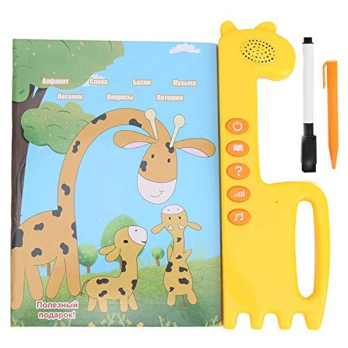 Mxtech Aprendizaje con Tableta de Libro de Sonido, ABS, Libro de Aprendizaje con Sonido, Incluye Letras, música, Aprendizaje, narración, protección del Medio Ambiente para niños