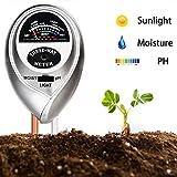 Supersks 3-in-1 Soil Tester Meter Test Kit for Light, Moisture and PH...