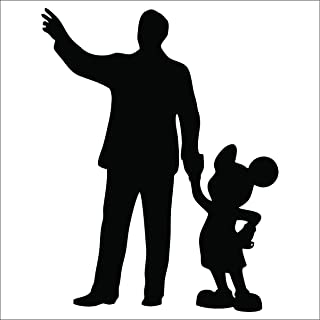 Cove Signs Walt & Mickey Partners Decal/Sticker - Black 4""