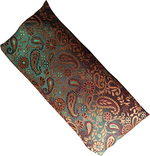 Blue Dove Yoga Eye pillow in a Brocade silk cover with a Cotton inner case and...