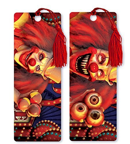 Dimension 9 3D Lenticular Bookmark with Tassel, Scary Carnival Clown (LBM194) by Dimension