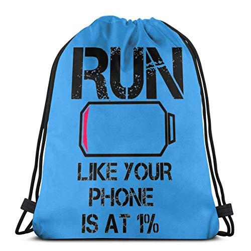 Sport-Rucksack mit Kordelzug, leicht, für Fitnessstudio, Yoga, Sting, Freizeit, Outdoor, für Damen und Herren, 36 x 43 cm