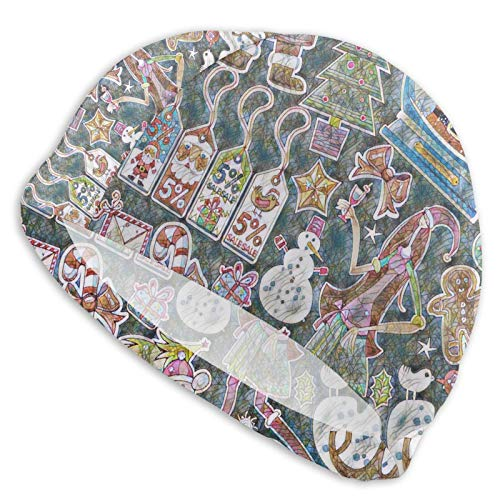 Curry J Yasha Santa Claus Swim Cap Breathablesuitable for Adults and Teenagers Loveliness