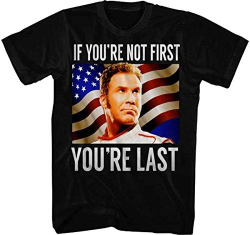 Talladega Nights Men's Talladega Nights You're Last Graphic T-Shirt, Black, Large