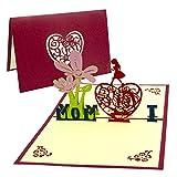 día de la Madre tarjeta,Tarjeta de cumpleaños para mamá especial, Tarjeta de felicitación pop-up 3D con hermoso papel cortado, regalo para el cumpleaños de mamá, sobre incluido