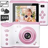 NEXGADGET Kinderkamera, 8MP Digitalkamera mit 2.8 Zoll Touchscreen / 32GB TF-Karte / Foto & Video / Rahmen / Filter, Mini Kamera für 3-12 jährige Kinder, Mädchen, Kinder Spielzeug / Geschenk -