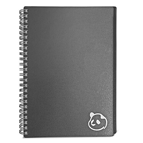 2021 Weekly Planner 2.0 by Panda Planner (Dated - Gray) - 1 Year Monthly Calendar and Weekly Organizer Notebook - Spiral Bound Wire Binding 12 Month Weekly Planner - 8.25' x 5.75'