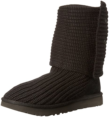 UGG Women's Classic Cardy Winter Boot, Black, 9 B US